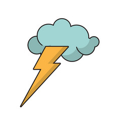 Idea concept cloud lightning image vector