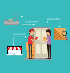 Import free shipping infographic vector