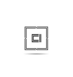 Initial letter ci logo template design vector