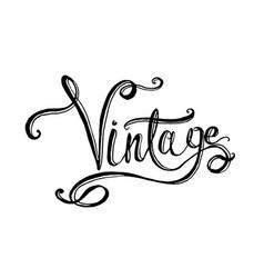 lettering word vintage vector image