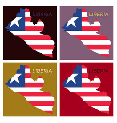 Map of liberia vector