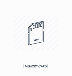 memory card outline icon isolated vector image