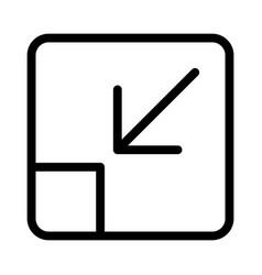 Minimize arrow symbol with shrink inward function vector
