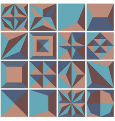 modern geometric tiles set design element vector image