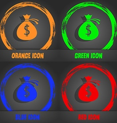 Money bag icon sign fashionable modern style in vector