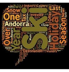 New cash for 2008 andorra ski holidays text vector