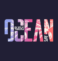Ocean surf riders graphic t-shirt design vector
