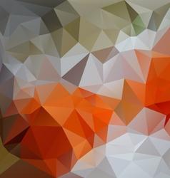 Orange green gray abstract polygon triangular vector