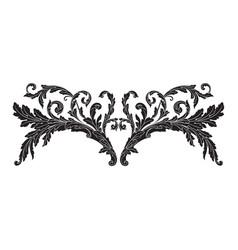 Ornament baroque vector