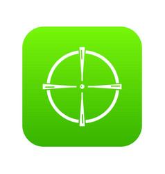 paintball gun sight icon green vector image