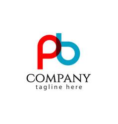 Pb company logo letter template design vector