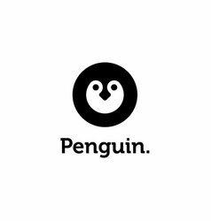 Penguin head logo icon design vector