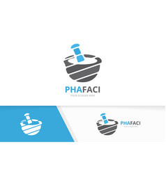pharmacy logo combination pounder symbol vector image