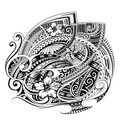 polynesian ethnic print design for fabric vector image