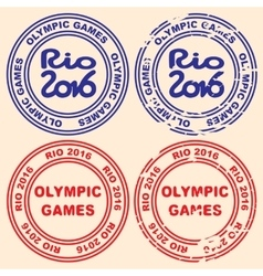 Printing with the inscription the Olympic Games vector image