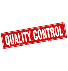 Quality control square stamp vector
