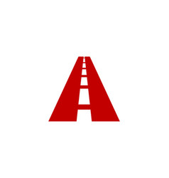 road letter a logo icon design vector image