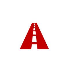 road letter a logo icon design vector image