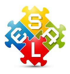 Sale Colorful Puzzle vector image