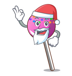 Santa lollipop with sprinkles mascot cartoon vector