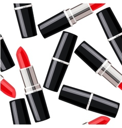 Seamless pattern with lipsticks vector image
