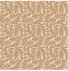 seamless plants leaves pattern flowers vector image