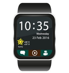 Smartwatch home screen vector image