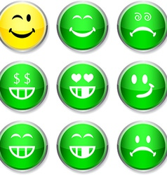 Smiley round icons vector image