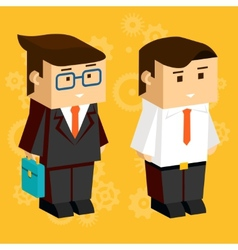 Square businessmen vector image