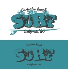 Surf t-shirt design vector image