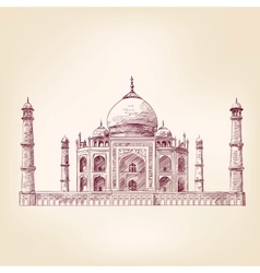 Taj Mahal India vector