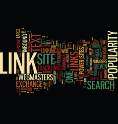 The power of link exchanges text background word vector