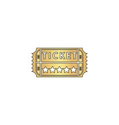 Ticket computer symbol vector