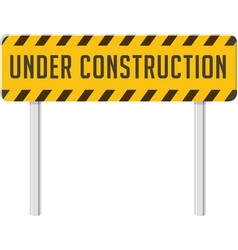 Under construction industrial sign vector