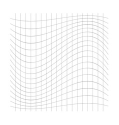 Wavy waving grid mesh thin lines squeeze vector