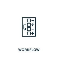 workflow icon premium style design from design ui vector image