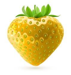 Yellow strawberry vector image