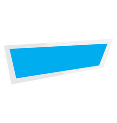 abstract banner on white background ribbon and vector image