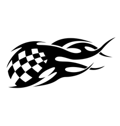 Checkered black and white motor sport flags vector image vector image