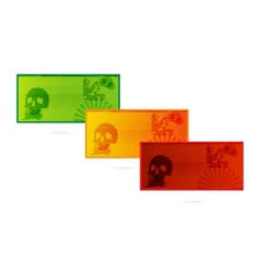colored cards set grunge style isolated vector image vector image