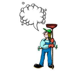female plumber-100 vector image vector image