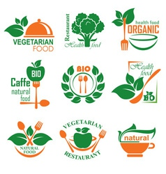 health food label vector image vector image