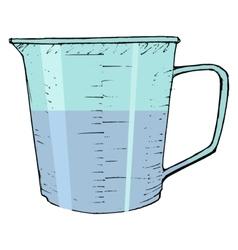 measuring cup vector image vector image