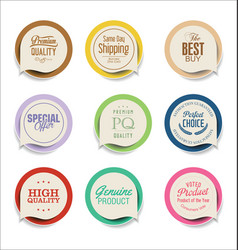 modern sale sticker collection vector image vector image