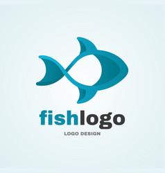 sea fish abstract logo modern style logo vector image