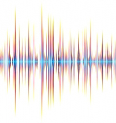 sound wave background vector image vector image