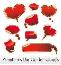 Valentine's stickers vector image vector image