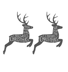 Vintage Christmas typographic greeting vector image vector image