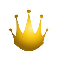 golden king crown vector image vector image