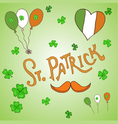 st patrick s day holiday greeting card vector image vector image